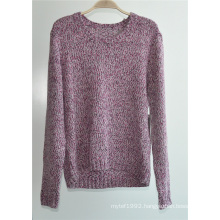 Ladies Cotton Acrylic Fancy Yarn Knit Pullover Sweater